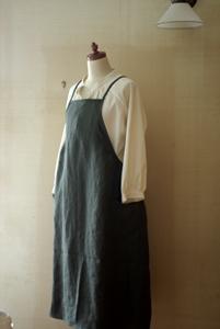 リネンジャンパースカート