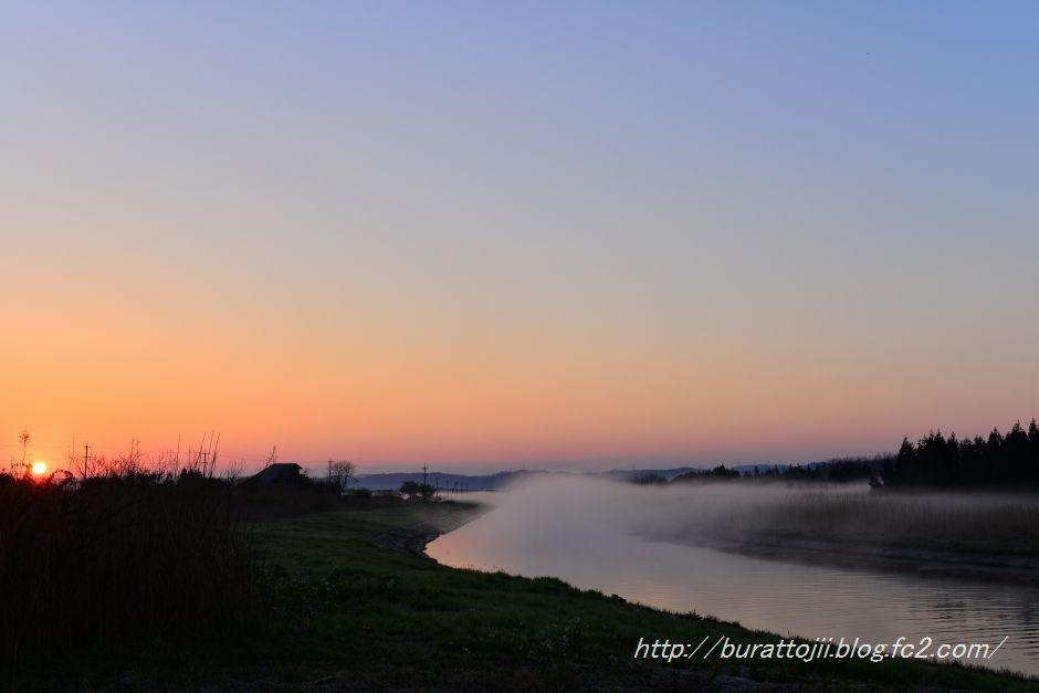 2014.04.14河北潟の日の出4