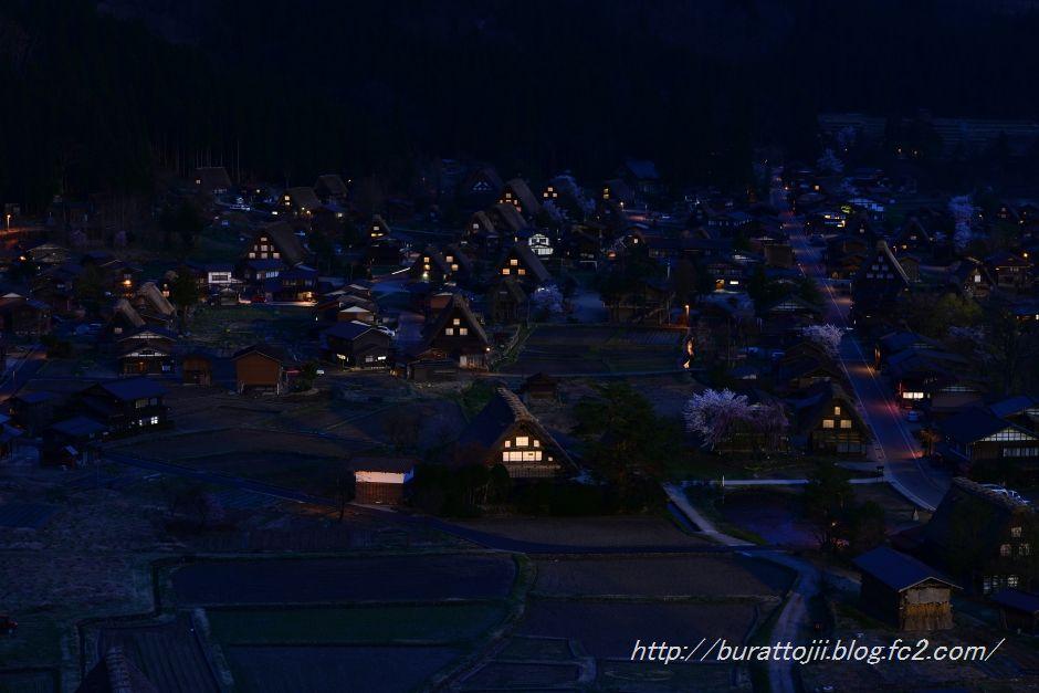 白川郷夜の始まる頃2014.04.24.18.54