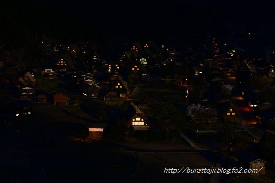 白川郷夜の始まる頃2014.04.24.19.02