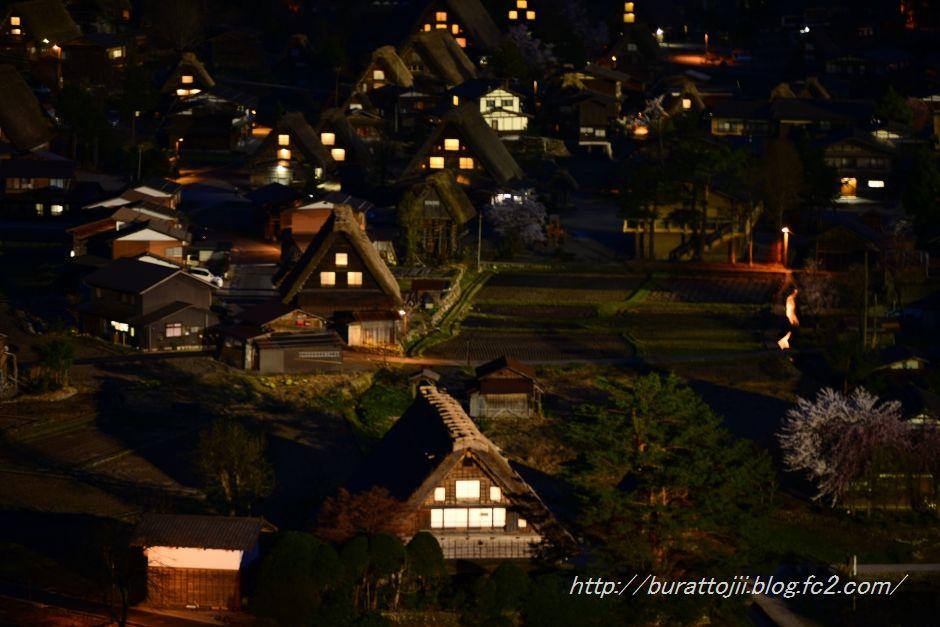 白川郷夜の始まる頃2014.04.24.19.05