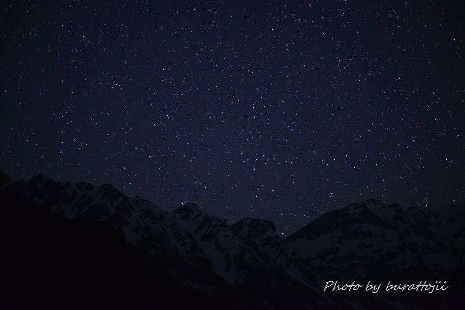 2014.05.29穂高岳連峰の星景1