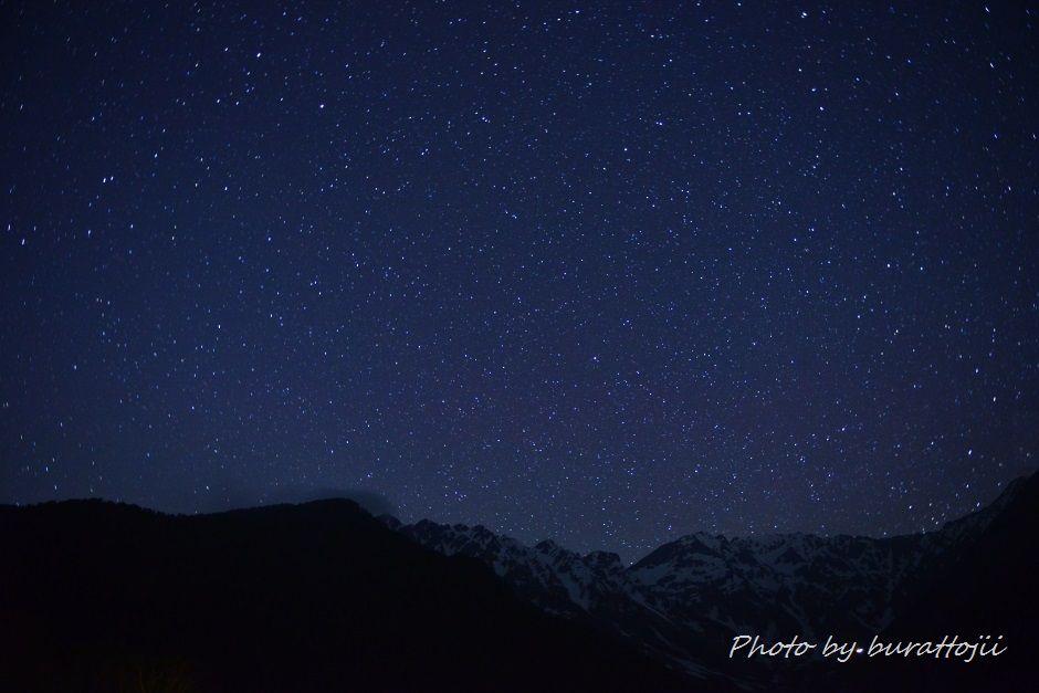 2014.05.29穂高岳連峰の星景2