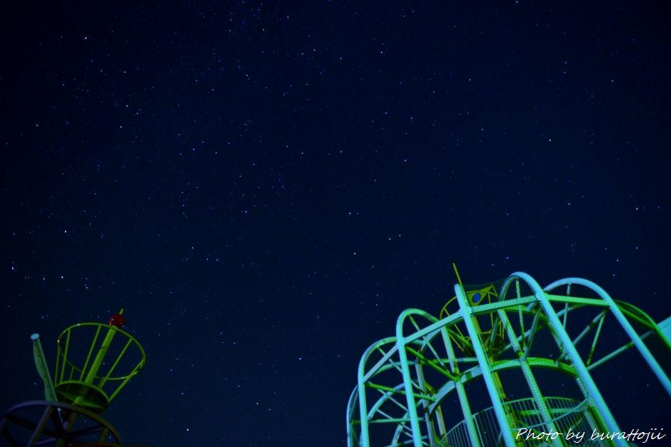 2014.07.25河北潟の夜景7公園と星