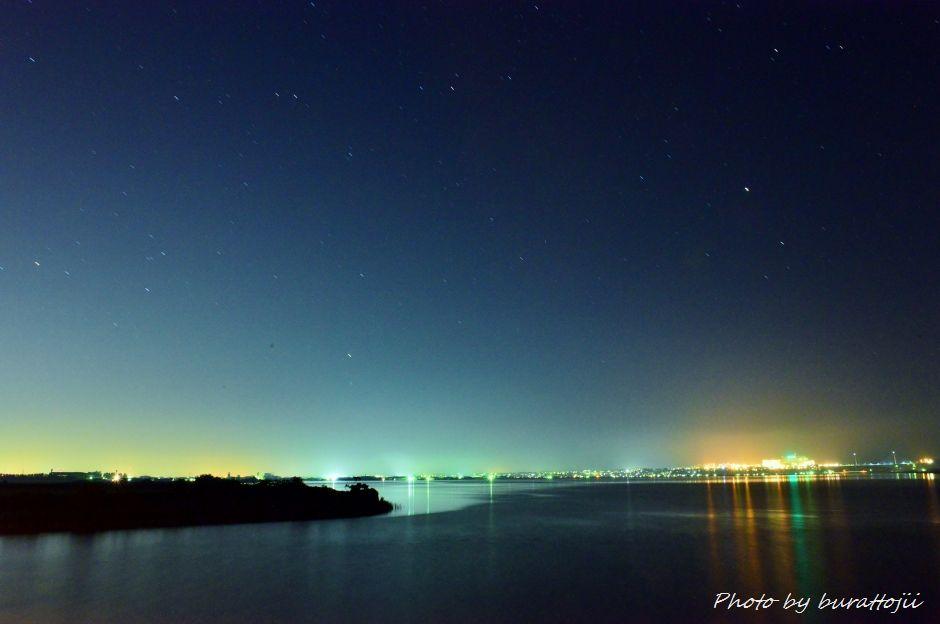 2014.07.25河北潟の夜景4