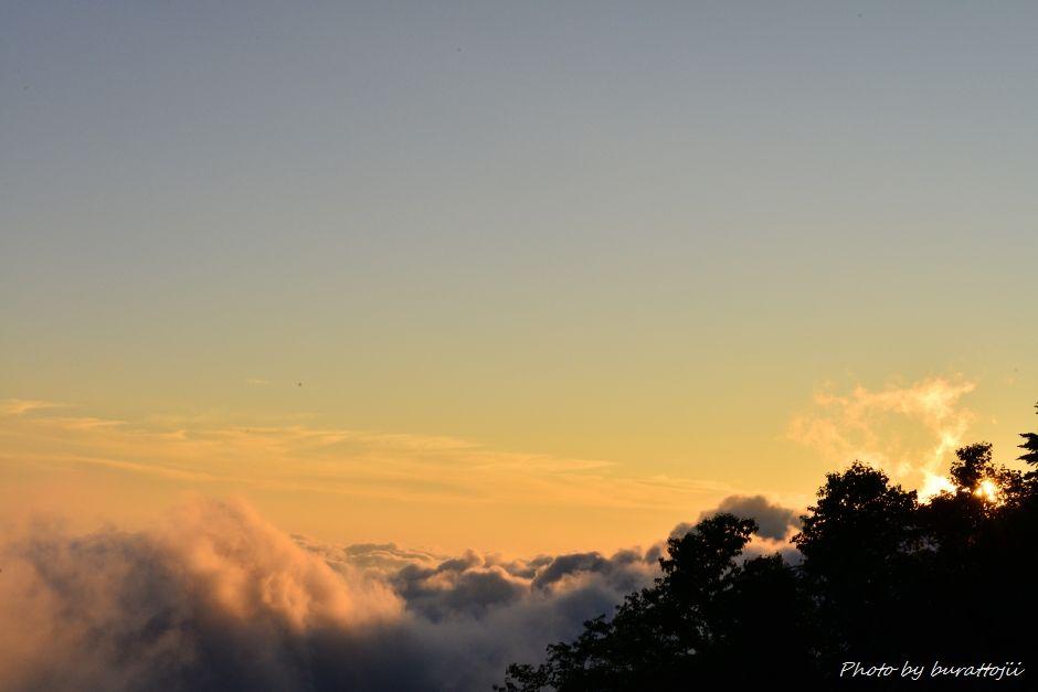 2014.07.28白山夕焼けと雲海4