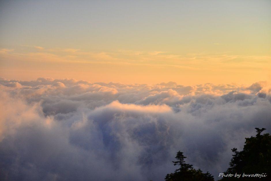 2014.07.28白山夕焼けと雲海3
