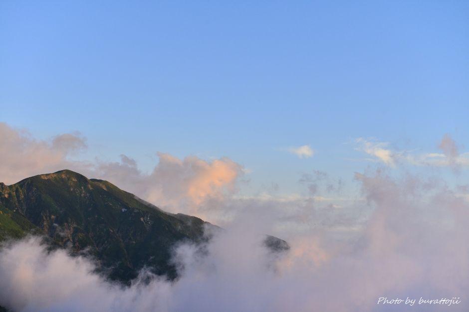 2014.07.28白山夕焼けと雲海2