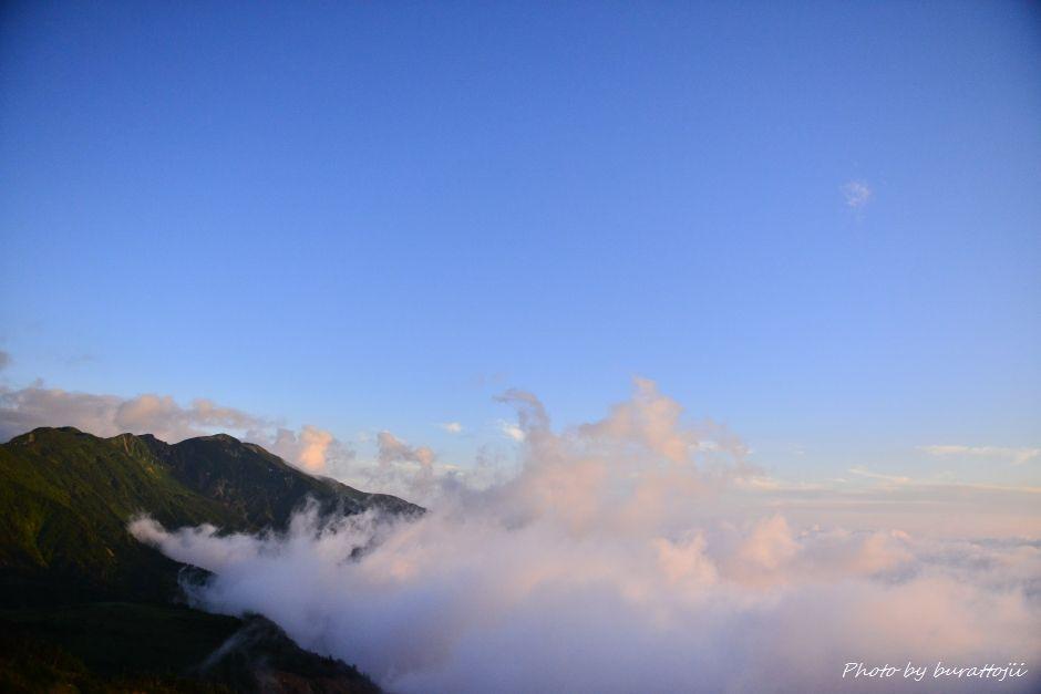 2014.07.28白山夕焼けと雲海1