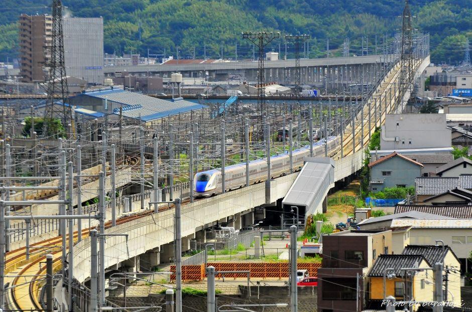 2014.08.05北陸新幹線W7系試験走行開始12