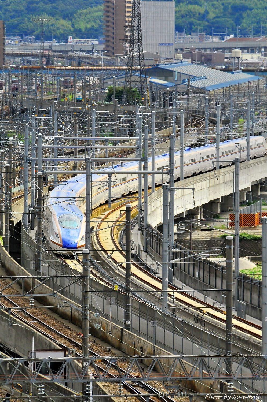 2014.08.05北陸新幹線W7系試験走行開始10