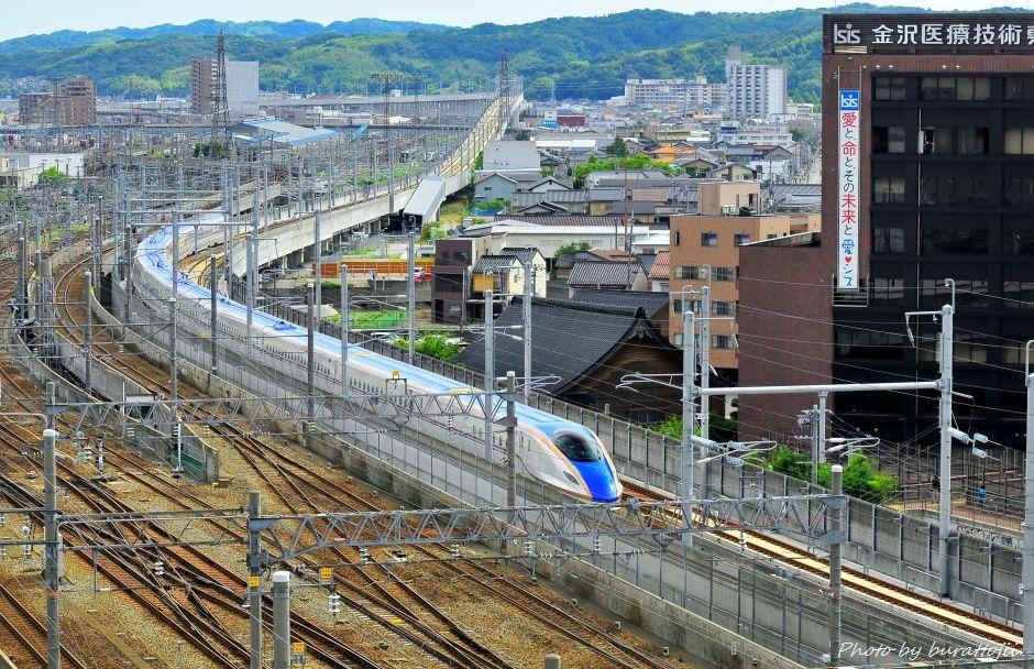 2014.08.05北陸新幹線W7系試験走行開始9