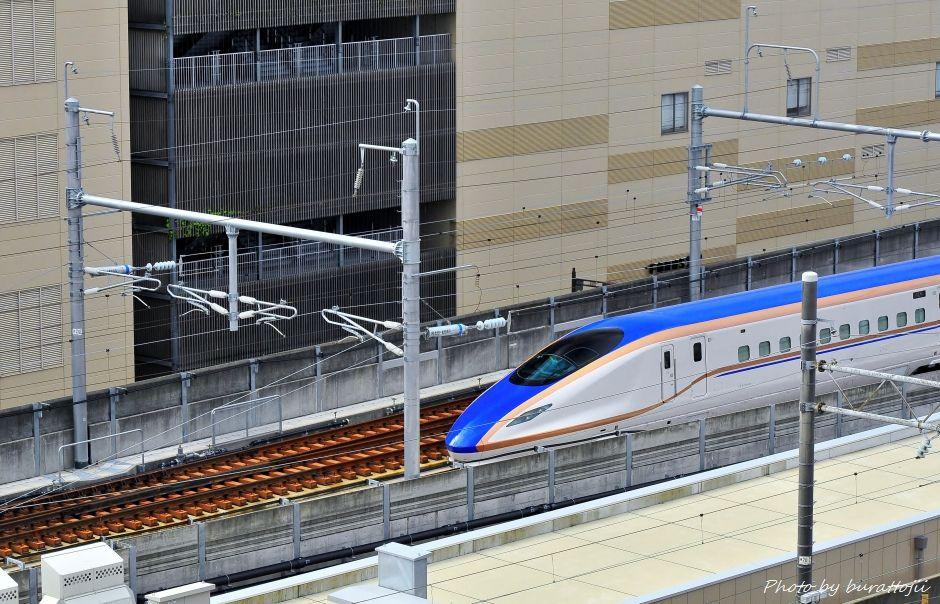 2014.08.05北陸新幹線W7系試験走行開始5
