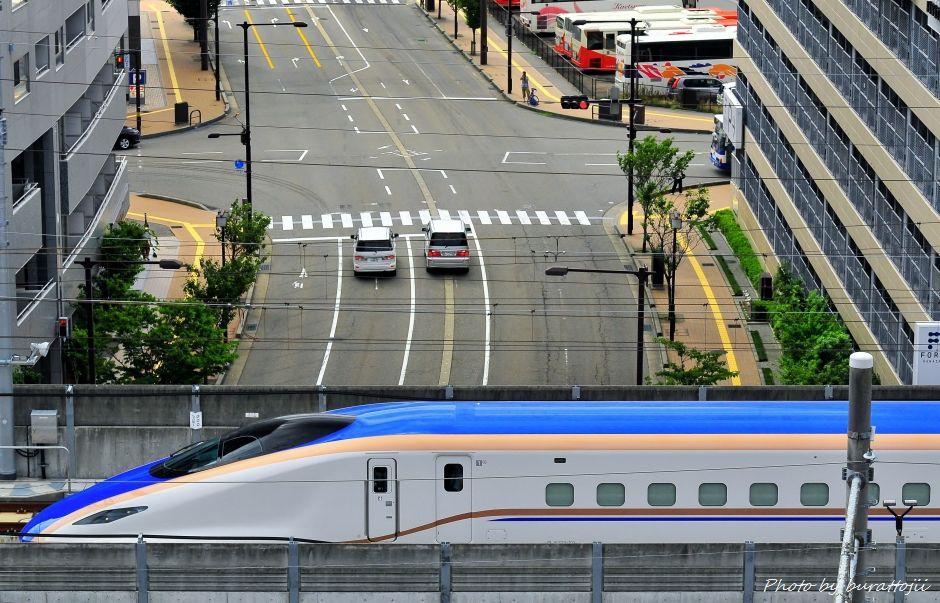 2014.08.05北陸新幹線W7系試験走行開始6