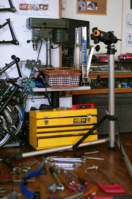 猫カフェ鮪 自転車工具