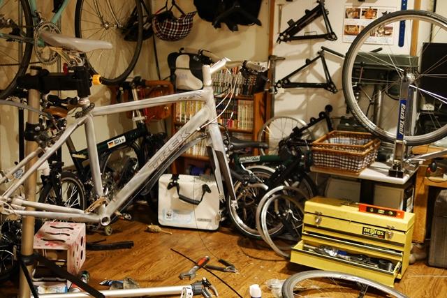 クロスバイク 整備