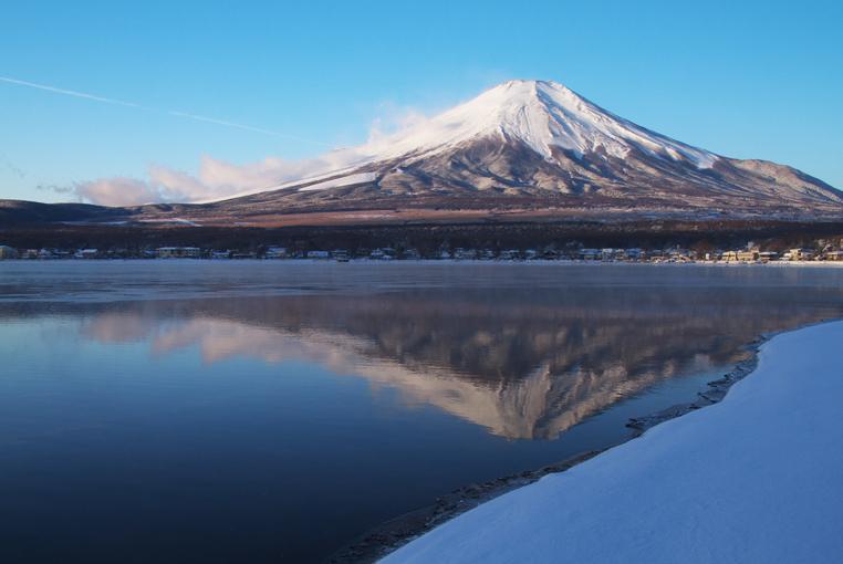 山中湖の新雪-766