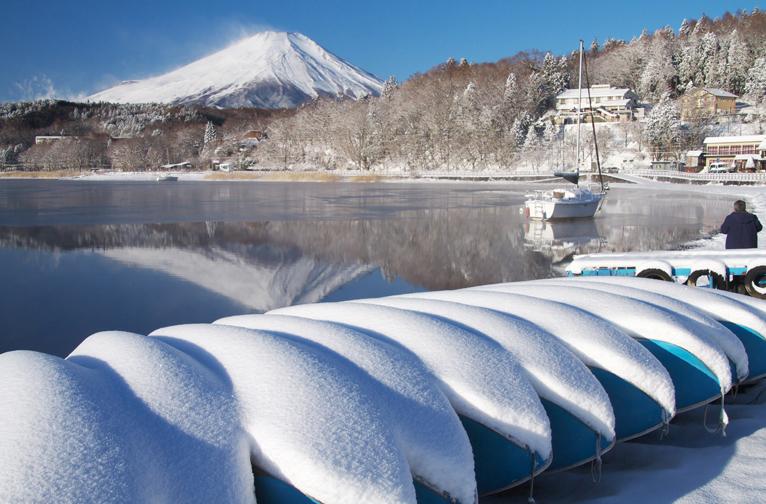 山中湖の新雪-816-3