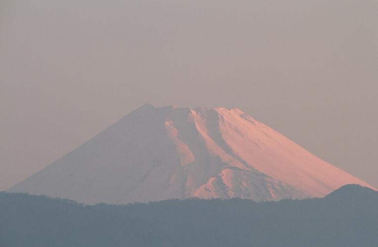 24日 5-10 今朝の富士山-2