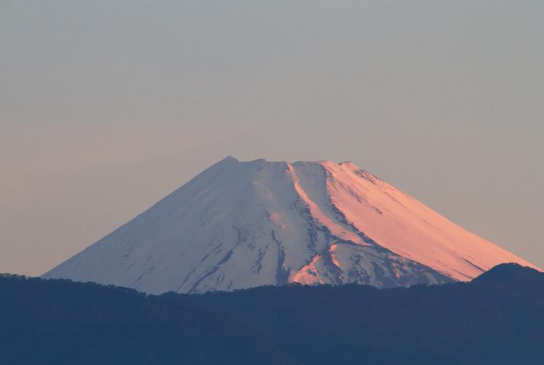11日 4-50 今朝の富士山-2