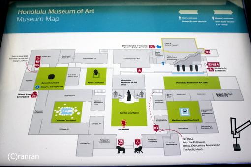 ホノルル美術館マップ