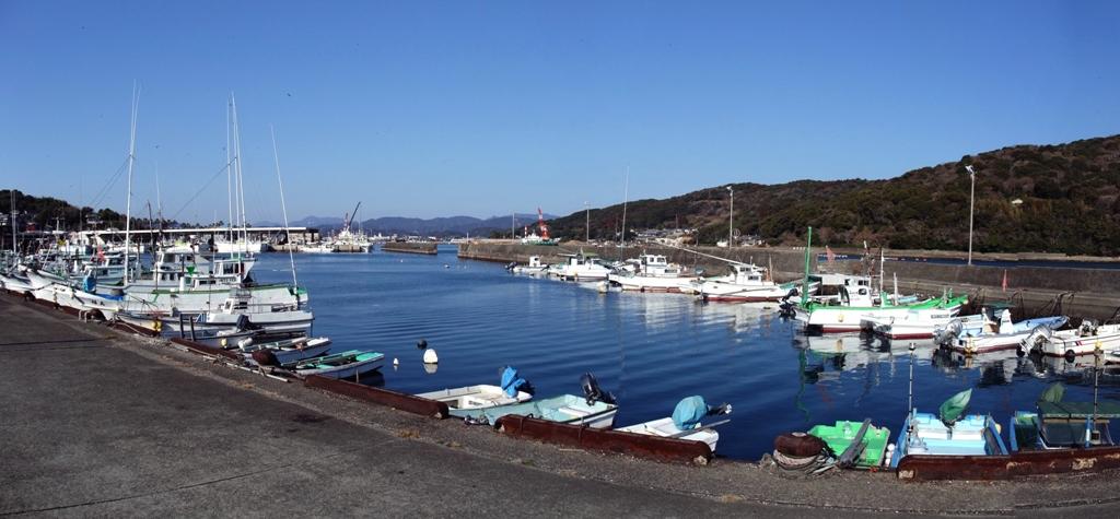 日向細島の漁港