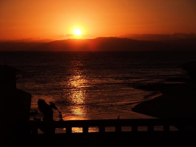 感動的な夕陽