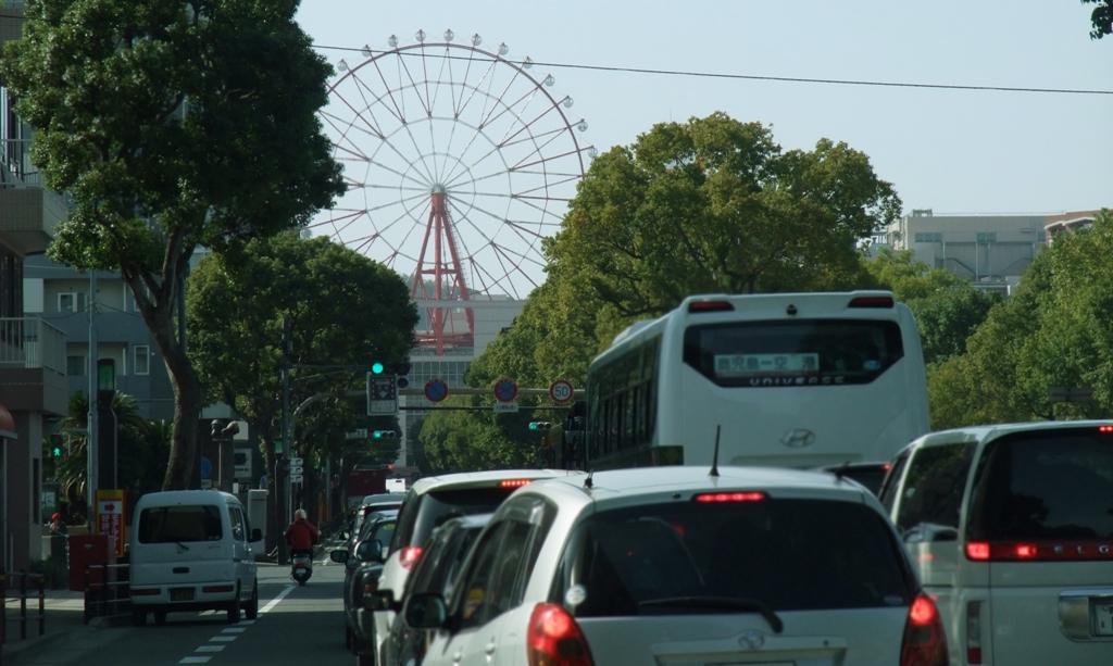 鹿児島ナポリ通りを行くもうすぐゴール