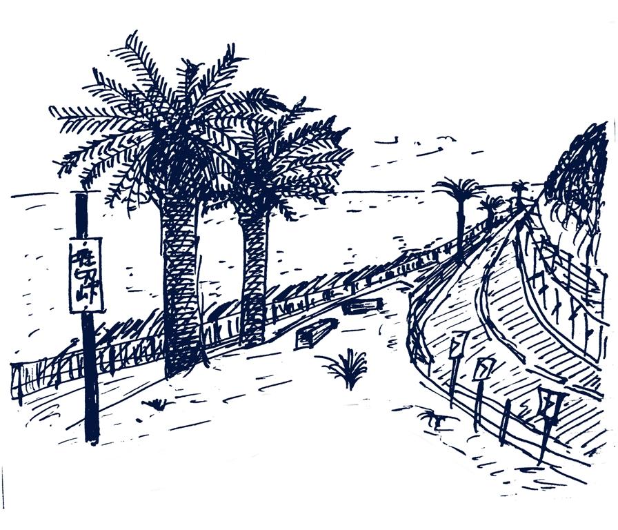 堀切峠のフェニックスのボールペン画