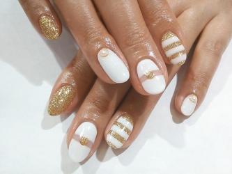 ホワイト×ゴールド2