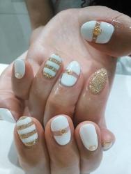 ホワイト×ゴールド1