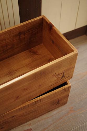 オーダーメイドのアンティーク風木製ボックス