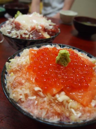 3食丼(つり舟)