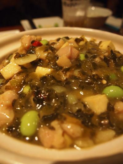 高菜鶏肉かけご飯(同源樓)