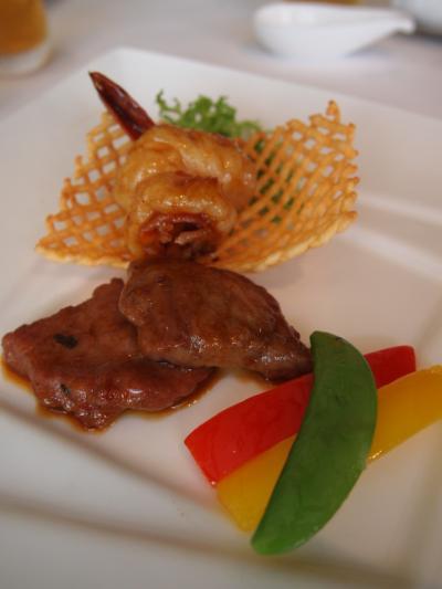 海老と牛肉(上海小南国)