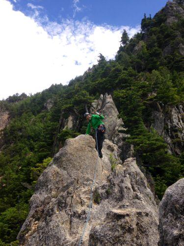 3小川山の花崗岩リッジは快適