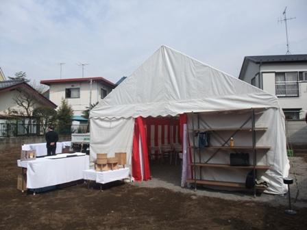 コーポラティブハウス地鎮祭テント