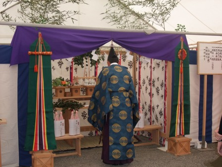 コーポラティブハウス:地鎮祭神主