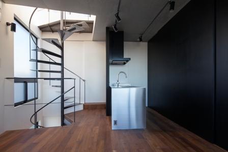 コーポラティブハウス:螺旋階段1