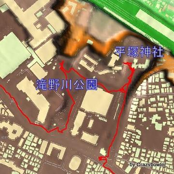 滝野川公園と平塚神社-001