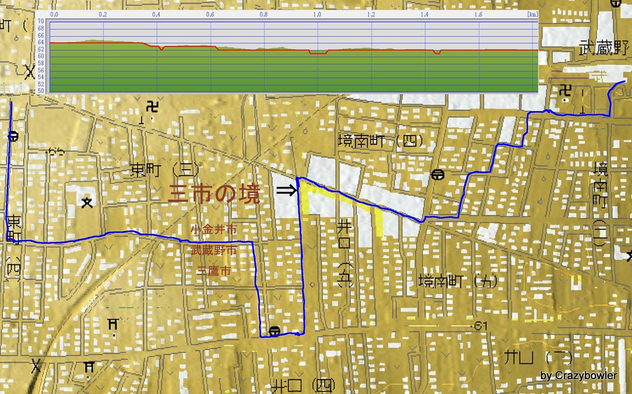 小金井武蔵野三鷹夜散歩140614