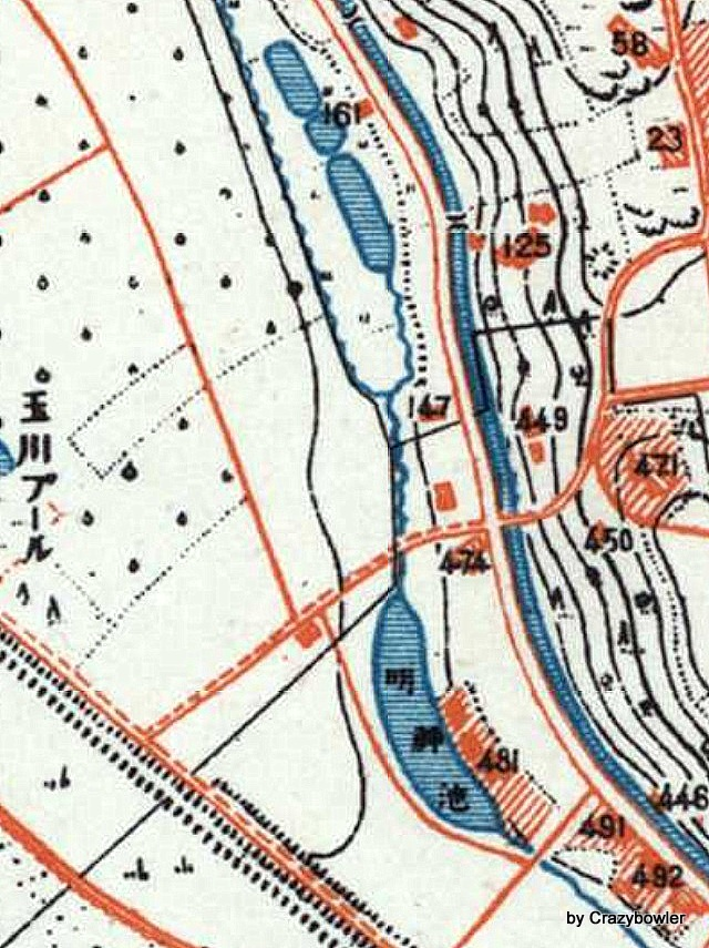 昭和初期の明神池