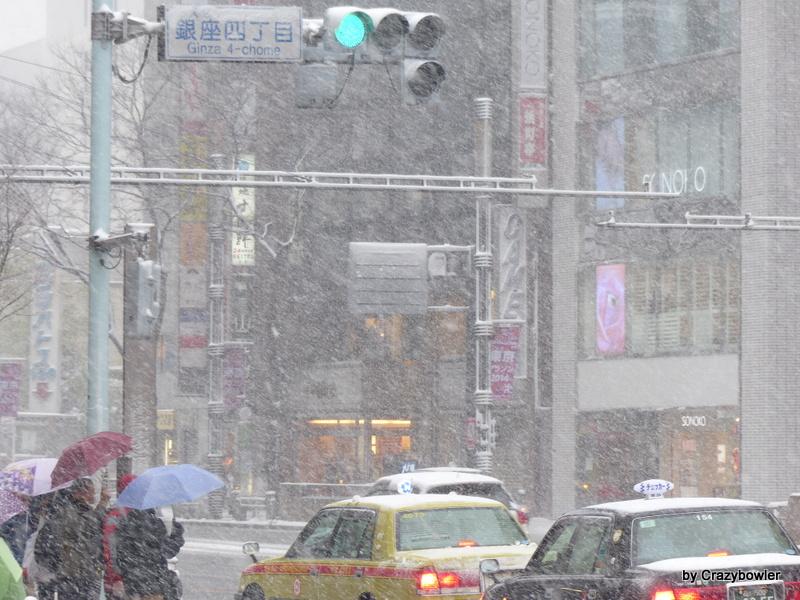 2014年2月8日銀座四丁目 大雪