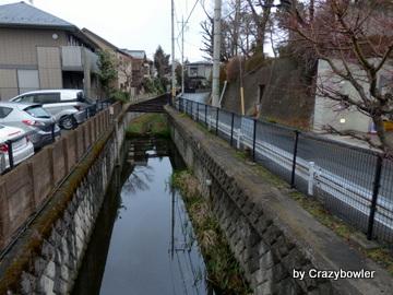 不動橋から見た野川(国分寺市)