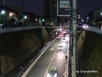 田端駅の付近の切り通し(北区)