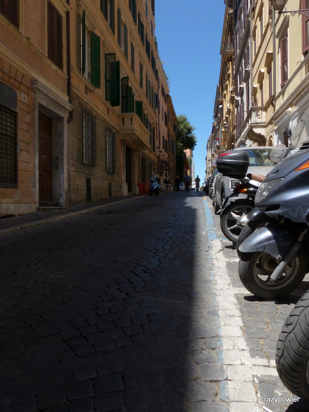 グレゴリアナ通り(Via Gregoriana)の坂