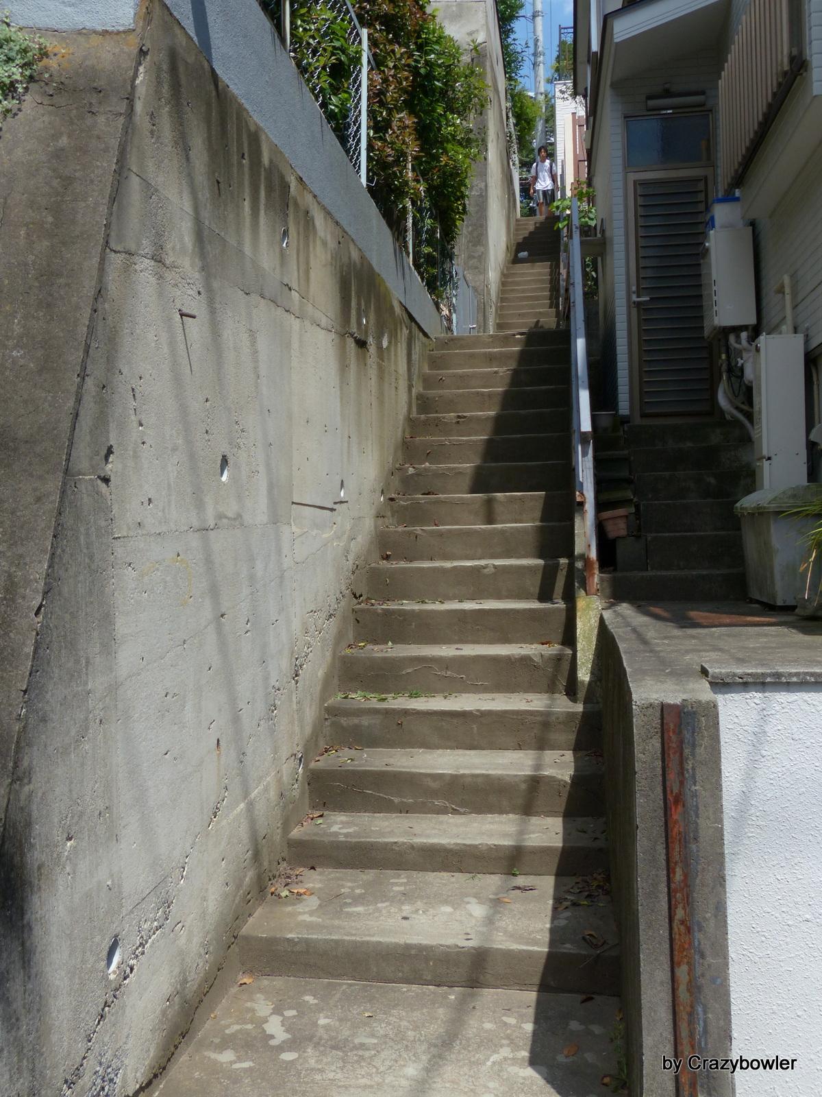 三鷹市大沢1-9の階段