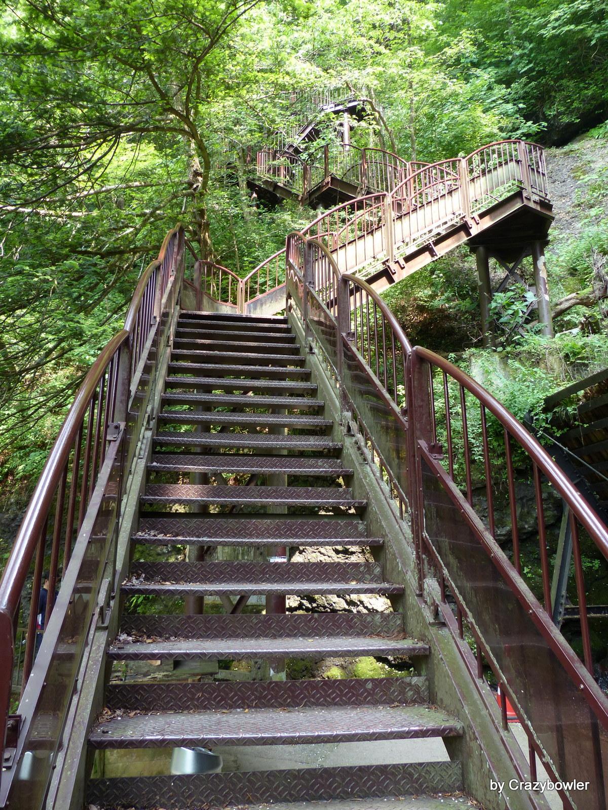 凄い階段(茨城県久慈郡大子町袋田)