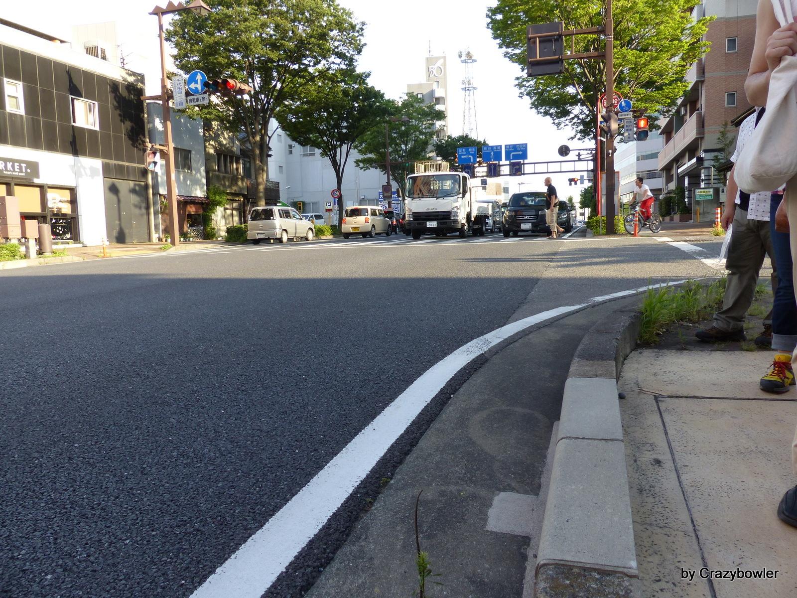 国道17号線、千代田町一丁目交差点の河岸段丘(前橋)