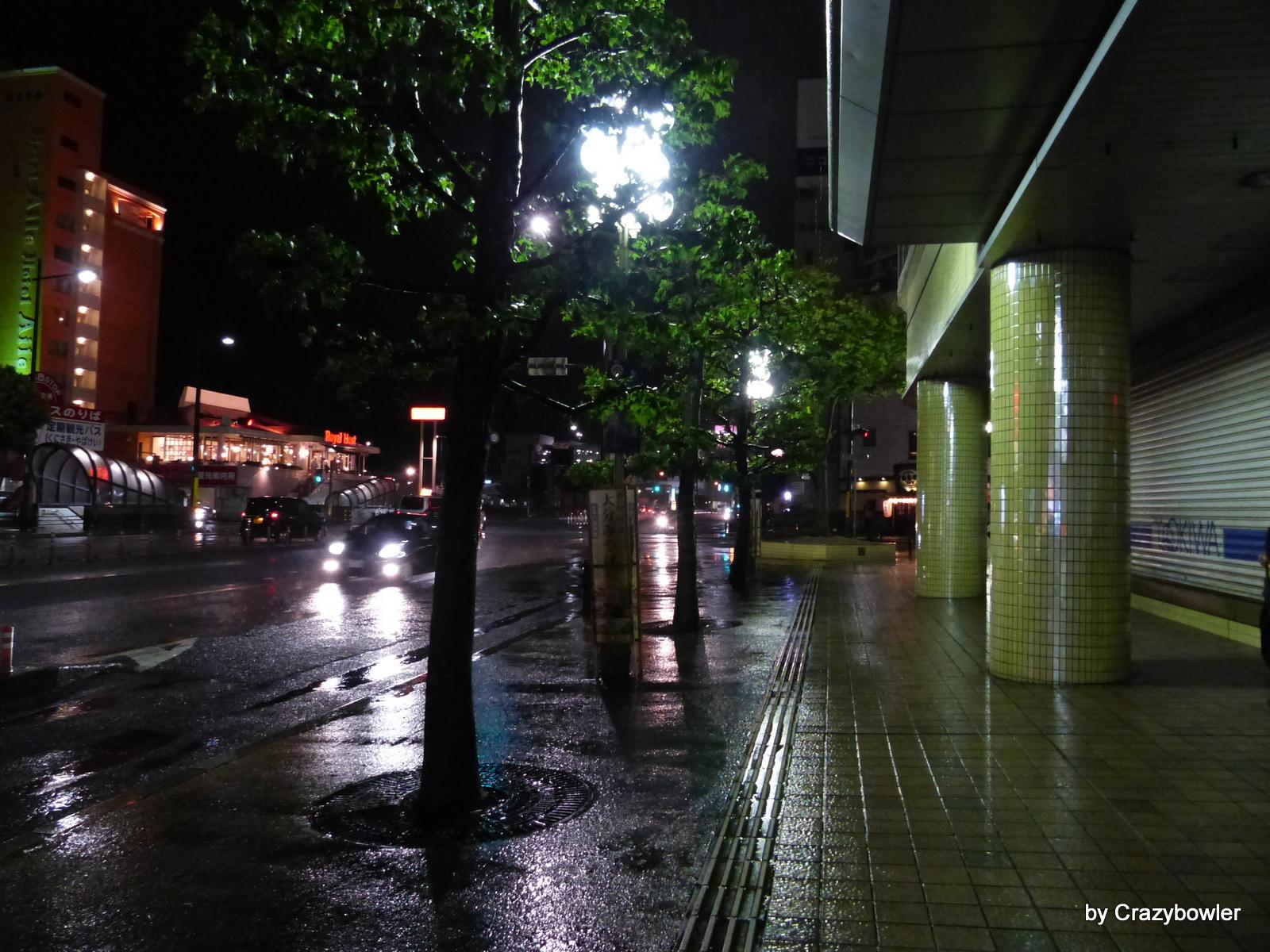 別府市内 8月8日夜の風